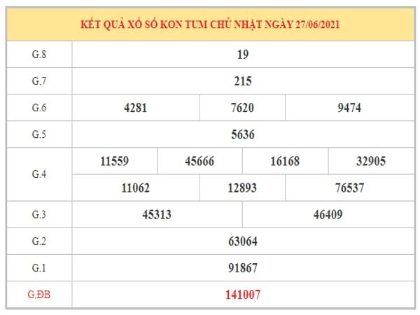 Soi cầu XSKT ngày 4/7/2021 dựa trên kết quả kì trước