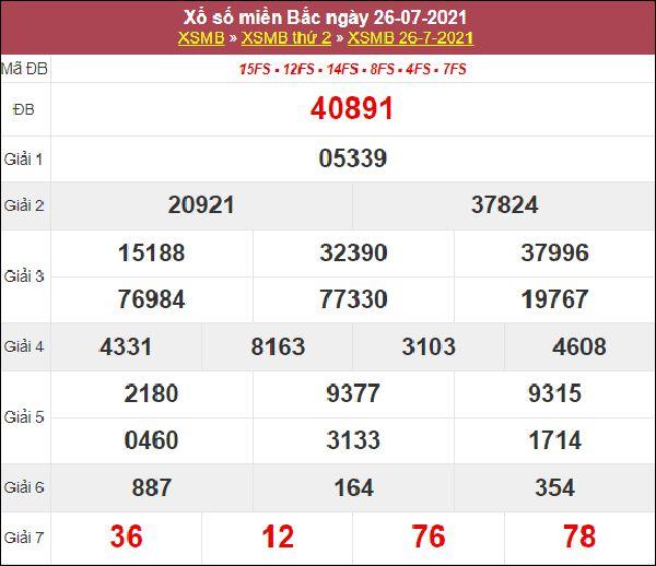 Soi cầu XSMB 27/7/2021 chốt cặp số đẹp giờ vàng thứ 3