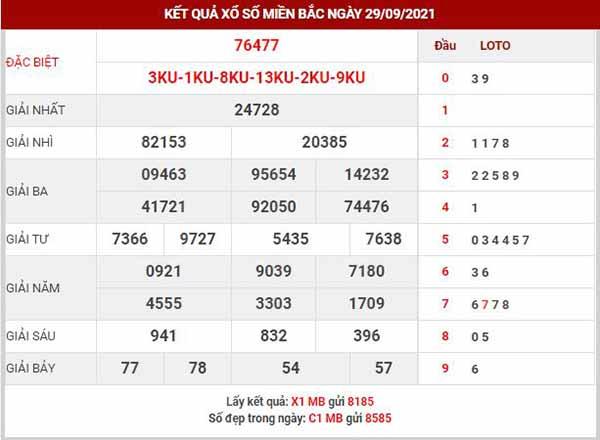 Soi cầu XSMB ngày 30/9/2021 - Soi cầu KQ XS miền Bắc thứ 5